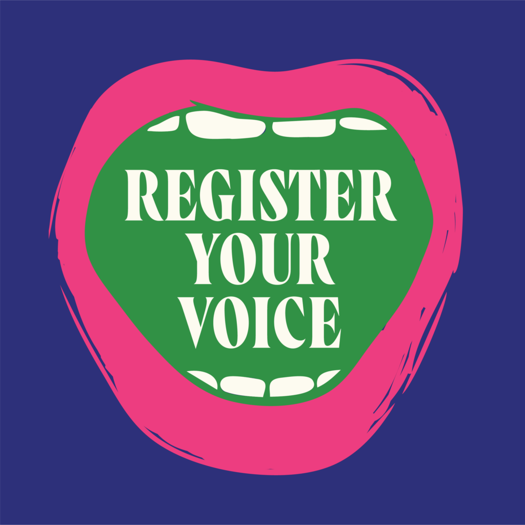 register your voice graphic